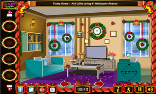 Knf Decorated Christmas House Escapeのゲーム画面「Christmas House Escape」
