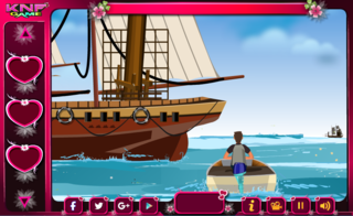 Knf JACK Save JENNIE From Shipのゲーム画面「Knf JACK Save JENNIE From Ship」