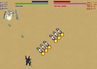 Rough Metalのゲーム画面「ロボット選択」