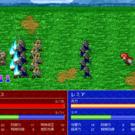 集団で敵軍に突撃する戦闘アニメーション
