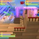 オンライン対戦 : ステージ7、 プレイヤー3人、 左右攻撃限定モード
