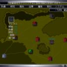 戦略画面。領地の開発や防衛などを行います。