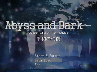 Abyss and Darkのゲーム画面「タイトル画面」
