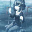 豪雨の公園にて――