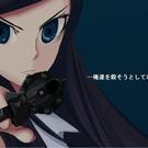 拳銃を構える謎の転校生、間宮伊織