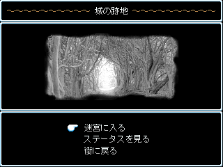 Whippoorwill ~Abyssal Explorers~のゲーム画面「拠点のとなる街の画面。」