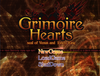 Grimoire Hearts Disk1のゲーム画面「全四章構成のRPG第一章!!」