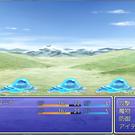 戦闘画面。HPこんなに少ないケド大丈夫なの・・・?