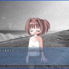 砂浜に倒れる少女を発見。