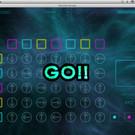 ゲーム画面。各矢印は左右のクリックで回転できる。