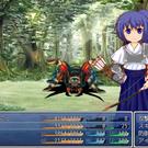 戦闘シーンではキャラクターの立ち絵が表示されます。