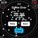 Game Over画面 結果をTwitterに投稿できます。