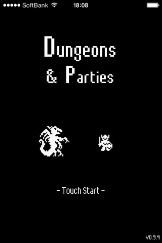 Dungeons & Partiesのゲーム画面「タイトル画面」
