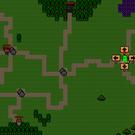 キャラクターが村に入ると、次進む方向を指示できる。