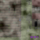 廃村の探索(右下のハートは体力)