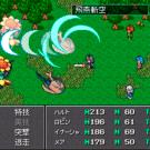 サイドビューの戦闘画面。画面右に行動順序が表示