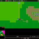メインゲーム画面。魔王と勇者が戦闘中。