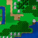 ワールドマップと船のある正統派RPG