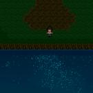 川に映る星