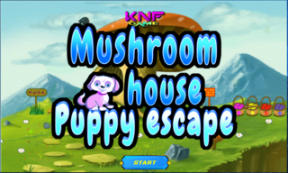Mushroom House Puppy Escapeのゲーム画面「Mushroom House Puppy Escape」