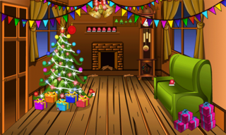 Knf Winter Wooden House Escapeのゲーム画面「Knf Winter Wooden House Escape」