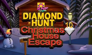 Diamond Hunt 10 Christmas House Escapeのゲーム画面「Diamond Hunt 10 Christmas House Escape」
