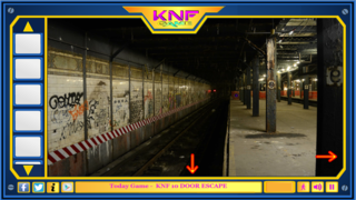 Knf Escape From Train Subway Tunnelのゲーム画面「Escape From Train Subway Tunnel 」