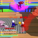 オンライン対戦3人用時:新キャラクターカラー、左右攻撃限定モードは2D移動+吹き飛びへ変更 ( 2D格闘風)