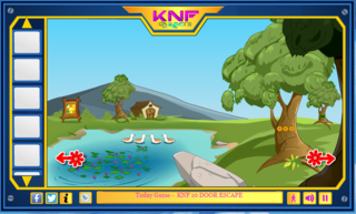 Knf Little johny 4 Lake house escapeのゲーム画面「」