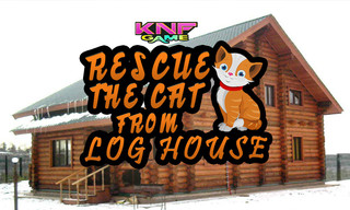 Knf Rescue The Cat From Log Houseのゲーム画面「 Rescue The Cat From Log House」