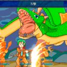 画面に入りきらないほどの巨大ドラゴンとの対決。