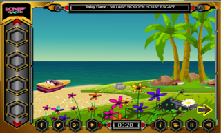 Knf Escape With Boat From Villaのゲーム画面「Knf Escape With Boat From Villa」