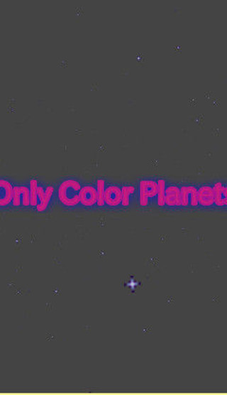 Only Color Planetsのゲーム画面「タイトル画面」