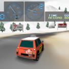 ターマック、グラベル、スノーの3コースをドライブ可能。