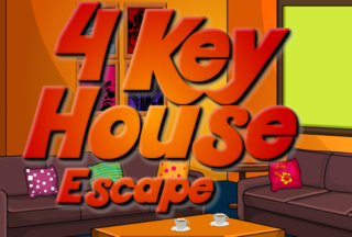Sivi 4 Keys Escapeのゲーム画面「You were trapped in the modern house. 」