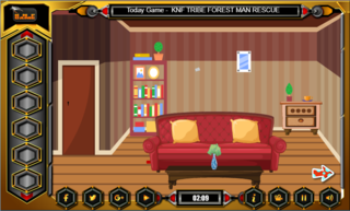 Knf Pleasant House Escapeのゲーム画面「ROOM 1」