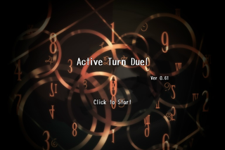 Active Turn Duel(仮) 体験版のゲーム画面「対戦中の様子1」