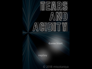 TEARS AND ACIDITYのゲーム画面「TEARS AND ACIDITY」
