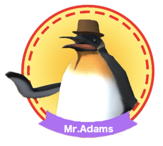 Penguin Race αのゲーム画面「this is Mr.Adams」