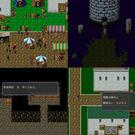 基本の移動画面。マウス、もしくはキーボードであちこち探索(4枚の画面を一つにまとめてあります)