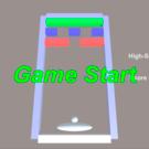 スペースを押すとボールが動き始めます。