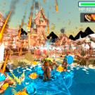 火炎魔法と能力向上アミュレットの効果。
