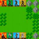 先頭画面。ベーシックなシミュレーションRPGのルールです。