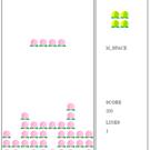 桃を一列にそろえるパズルゲーム。