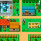 小さな村です。なんと一画面です。