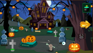 Escape From Dark Forest Houseのゲーム画面「746th-Escape From Dark Forest House is another point and click escape game developed by Top 10 New Games. Assume that you are trapped in the dark forest house and you try to escape from the dark forest house by using objects, keys, hints and by solving pu」