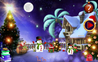 Christmas Find The Santa Clausのゲーム画面「new escape games」