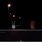 夜の町で出会った不気味な女