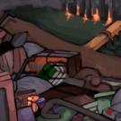 ゴミ山の背景