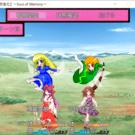 戦闘画面。味方キャラクターの見た目を変更可能
